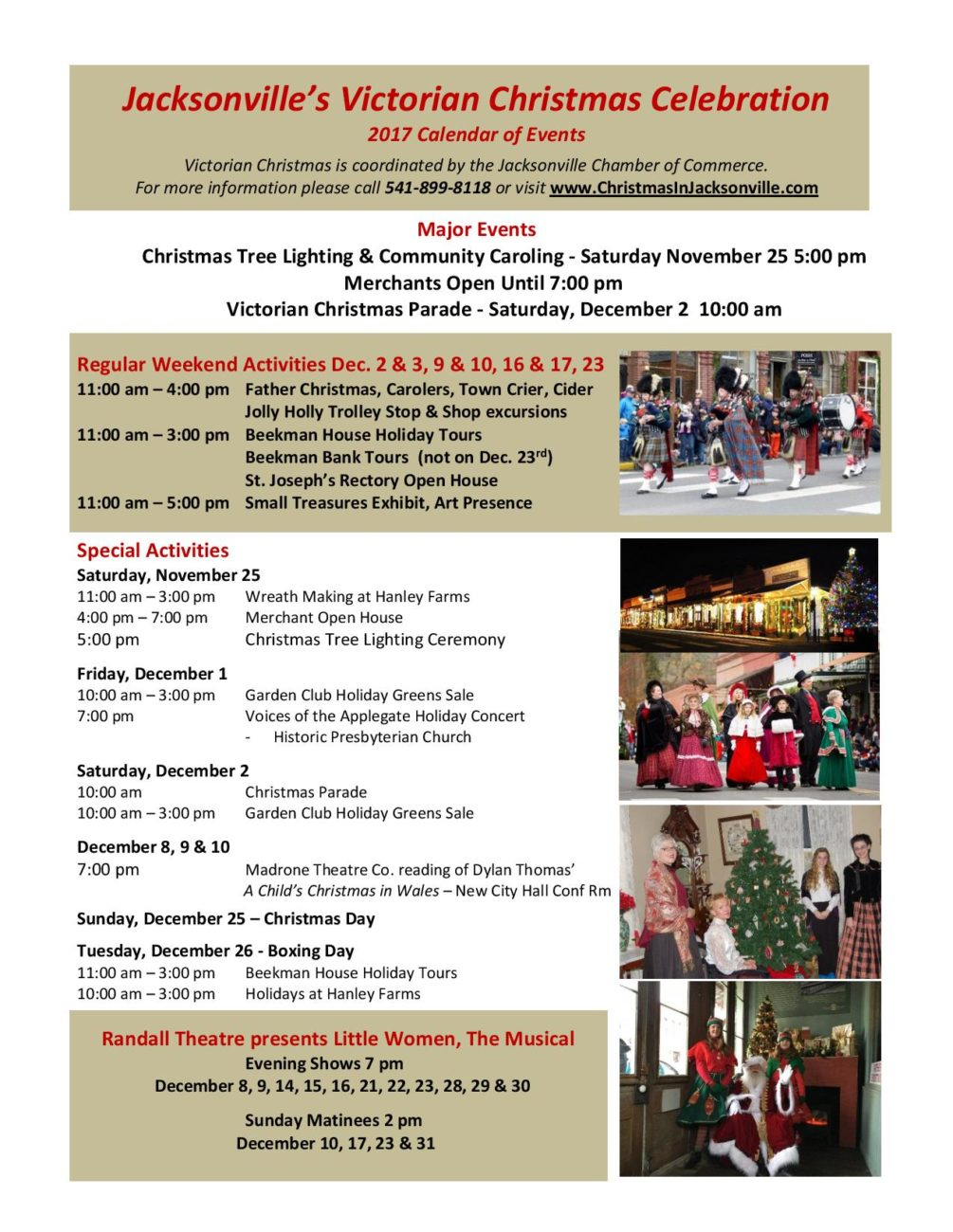 Celebrate Victorian Christmas in Jacksonville 2017 - Southern Oregon ...
