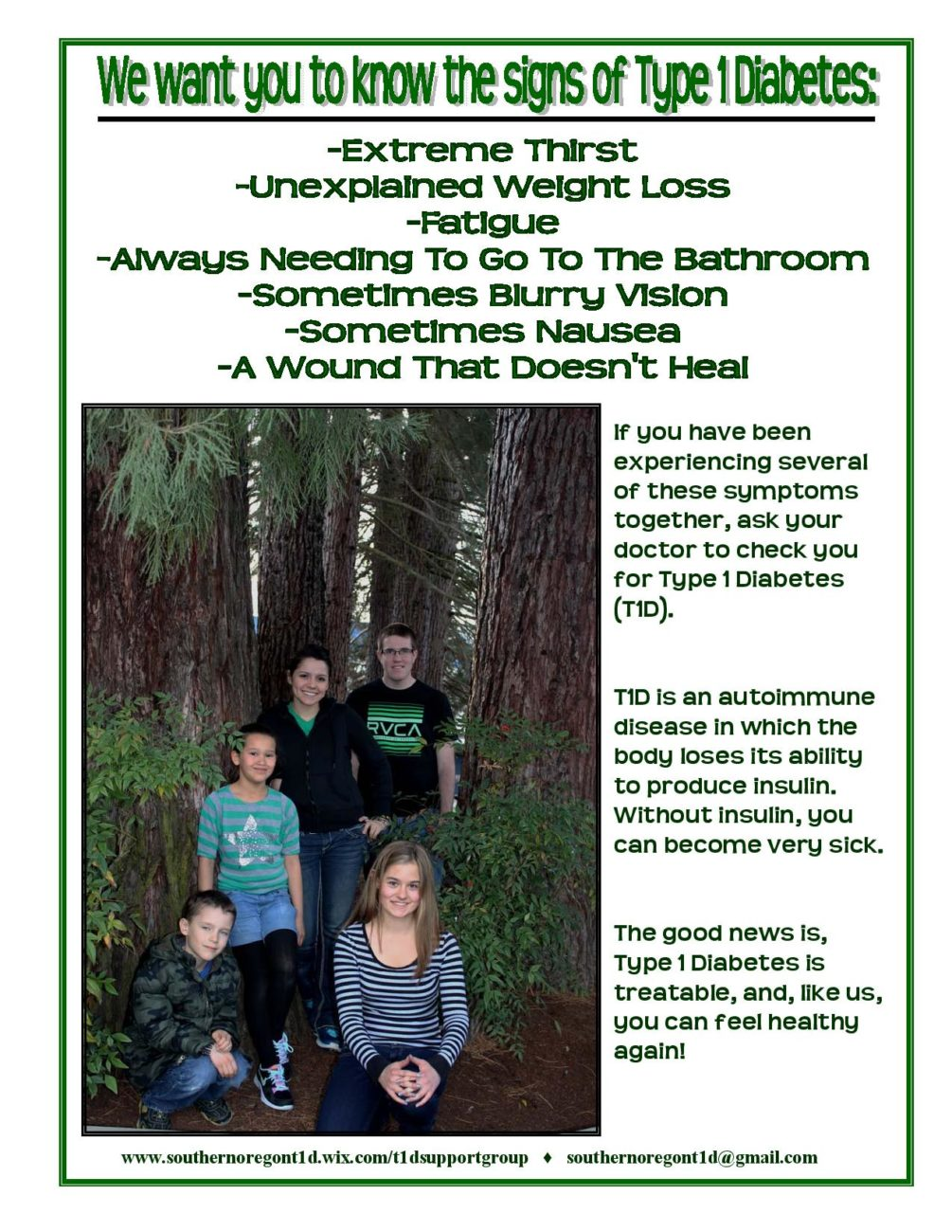 T1 Dynamite: A Southern Oregon group for youth with type 1 diabetes